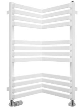 Gallery Zion 350 x 735mm White Matte Towel Warmer