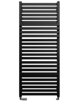 Gallery Seattle 500 x 1185mm Black Matte Towel Warmer