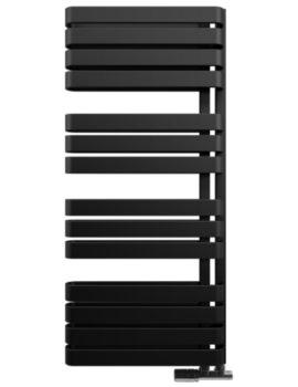 Gallery Svelte 500 x 1100mm Black Matte Towel Warmer