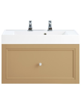 Caversham Oak 700mm 1 Drawer Wall Hung Furniture Vanity Unit