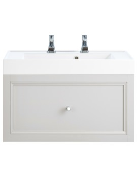 Caversham White Ash 700mm 1 Drawer Wall Hung Furniture Vanity Unit