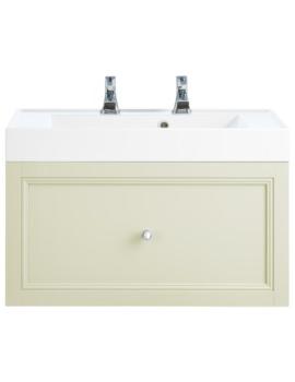 Caversham Oyster 700mm 1 Drawer Wall Hung Furniture Vanity Unit