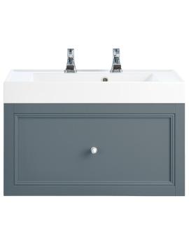 Caversham Graphite 700mm 1 Drawer Wall Hung Furniture Vanity Unit