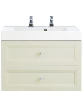 Caversham Oyster 700mm 2 Drawer Wall Hung Furniture Vanity Unit