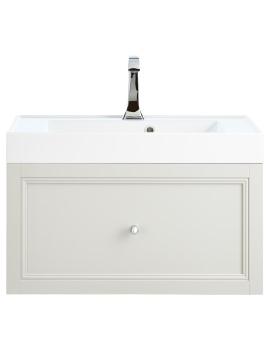 Caversham Dove Grey 700mm 1 Drawer Wall Hung Furniture Vanity Unit