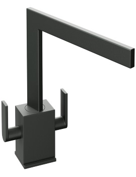 Abode Edge Granite Black Monobloc Kitchen Mixer Tap