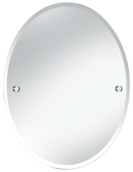 Harlesden 500 x 610mm Oval Mirror With Chrome Fitting