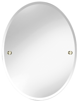 Harlesden 500 x 610mm Oval Mirror With Vintage Gold Fitting