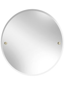 Harlesden 610mm Round Mirror With Vintage Gold Fitting