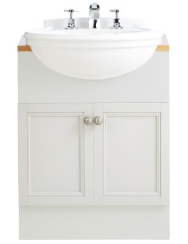 Claverton 460mm 2 Tapholes Medium Semi-Recessed Basin