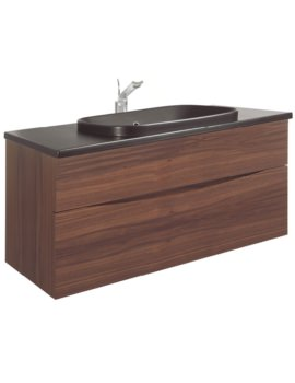 Glide II American Walnut 1000mm Unit With PlusTon Worktop And Basin