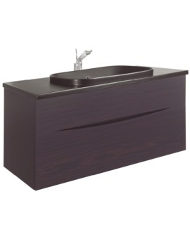 Glide II Wenge 1000mm Unit With PlusTon Worktop And Inset Basin