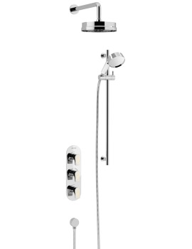 Lymington Recessed Thermostatic Valve With Fixed Head And Kit