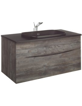 Glide II Driftwood 1000mm Unit With PlusTon Worktop And Inset Basin