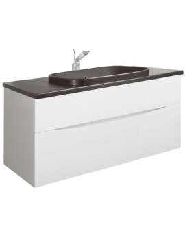 Glide II White 1000mm Unit With PlusTon Worktop And Inset Basin