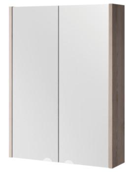 Croydex Heydon Double Door Bi-View Grey Cabinet 500 x 675mm