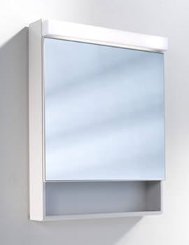 Schneider Lowline 600mm 1 Door Mirror Cabinet With Flourescent Lighting