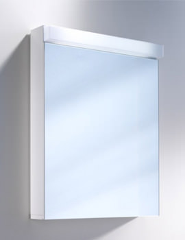 Lowline 1 Door Mirror Cabinet With Flourescent Lighting - More Sizes Available