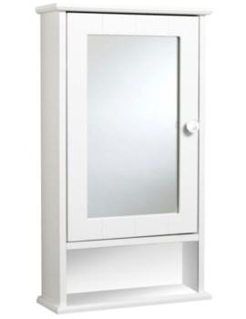 Langham Single Door Mirror Cabinet - WC431222