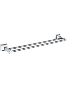 Chancery 590mm Chrome Double Bar Towel Rail