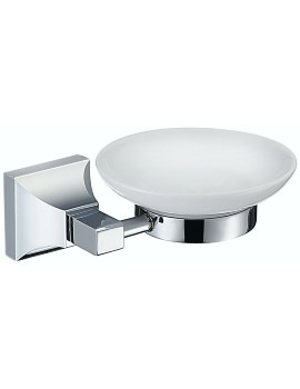 Heritage Chancery Soap Dish With Chrome Holder