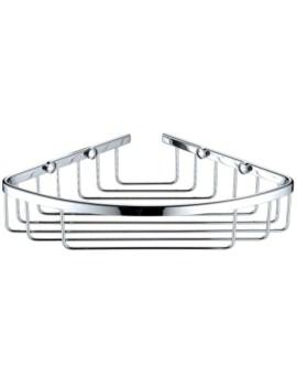 Heritage 200 x 200mm Corner Chrome Wire Basket