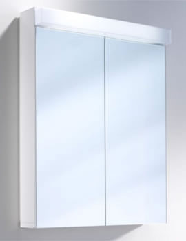 Lowline 2 Door Mirror Cabinet With Fluorescent Lighting