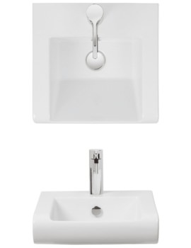Essence 400mm Semi Inset Basin With Overflow - ES0001SCW