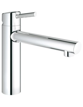 Concetto Half Inch Kitchen Sink Mixer Tap Chrome