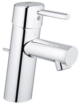 Concetto S-Size Basin Mixer Tap With Pop Up Waste Chrome