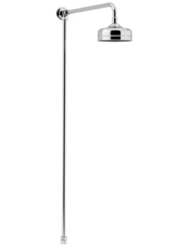 Heritage Chrome Shower Rigid Riser Fixed Kit With Rose - Image