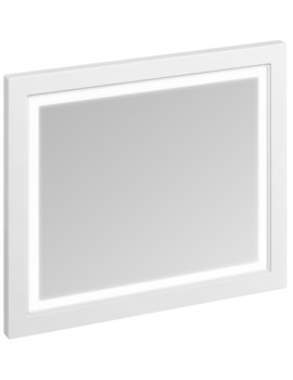 900mm Matt White Framed Mirror With LED Illumination