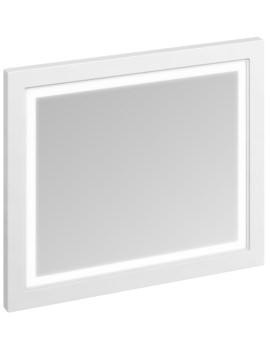 900mm Matt White Framed Mirror With LED Illumination