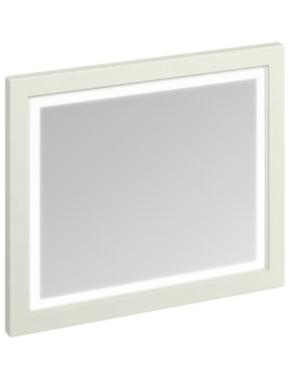 900mm Sand Framed Mirror With LED Illumination