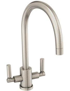 Abode Atlas Brushed Nickel Aquifier Water Filter Monobloc Kitchen Mixer Tap