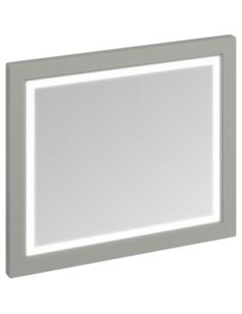 900mm Dark Olive Framed Mirror With LED Illumination