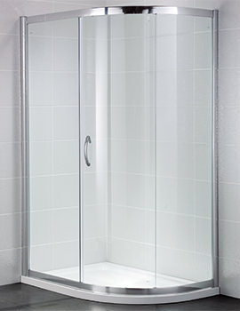 Identiti2 900 x 760mm Single Door Shower Offset Quadrant