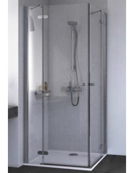 ID Match Round 800 x 800mm Corner Entry Shower Enclosure