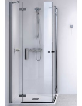 Aqualux ID Match Square 800 x 800mm Corner Entry Shower Enclosure