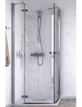 Aqualux ID Match Time 800 x 800mm Corner Entry Shower Enclosure