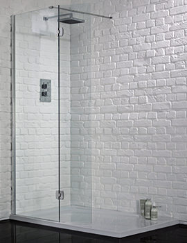 1200mm x 2000mm Wetroom 8 Glass Panel With Return