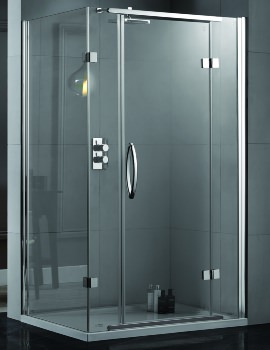Aquadart Inline 1200 x 900mm 2 Sided Hinged Shower Door And Side Panel