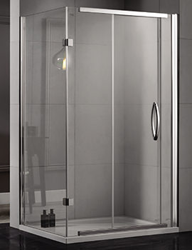 Inline 1200 x 800mm 2 Sided Sliding Shower Door And Side Panel