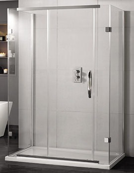 Inline 1200 x 800mm 3 Sided Sliding Shower Door And Side Panels