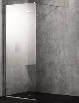 Wetroom 10 Walk-In 1000mm Clear Glass Shower Panel