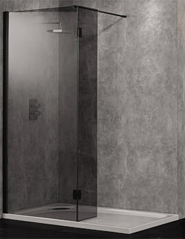 Wetroom 10 Walk-In 1600mm Smoked Glass Shower Panel