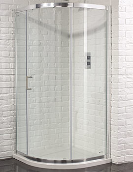 Aquadart Venturi 6 Single Door Shower Quadrant 900 x 900mm - Image