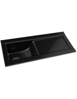 Tydal Black Glaze 1.0 Bowl Ceramic Kitchen Sink With Drainer