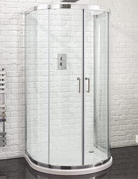 Venturi 6  915 x 1040mm U Shaped Double Door Shower Quadrant