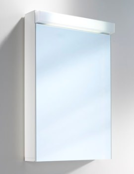 Lowline 50cm 1 Door Mirror Cabinet With LED Light